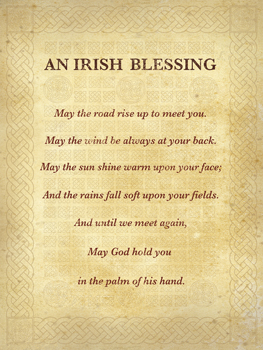 An Irish Blessing Print by The Inspirational Collection