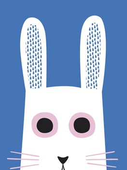 Best of Friends - Rabbit Print by Sophie Ledesma
