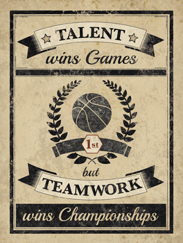 Athletic Wisdom - Team Print by The Vintage Collection