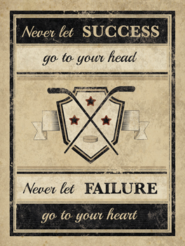 Athletic Wisdom - Success Print by The Vintage Collection