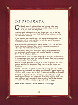 Desiderata Print by The Inspirational Collection