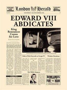 Edward VIII Abdicates Print by The Vintage Collection