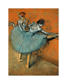 Dancers at the Barre, c.1880-1900 Fine Art Print by Edgar Degas