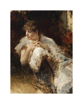 A Lady from Naples Fine Art Print by Giuseppe De Nittis