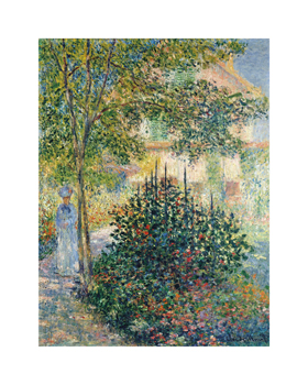 Camille Monet in the Garden at Argenteuil, 1876 Fine Art Print by Claude Monet