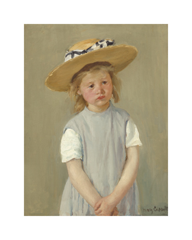Child in a Straw Hat, c.1886 Fine Art Print by Mary Stevenson Cassatt