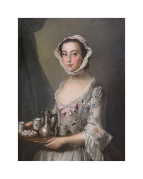 Girl with a Tray,  c.1750 Fine Art Print by Philippe Mercier