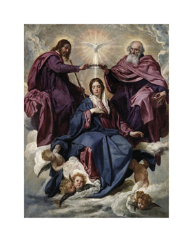 Coronation of the Virgin Fine Art Print by Diego Velazquez