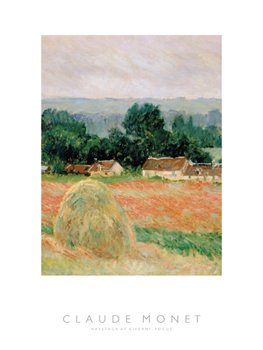 Haystack at Giverny - Focus Print by Claude Monet