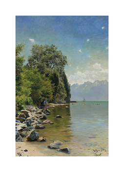 Lac Léman Fine Art Print by Peder Mork Monsted