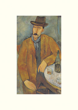 Man with a Wine Glass Print by Amedeo Modigliani