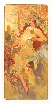 Autumn Fine Art Print by Alphonse Mucha