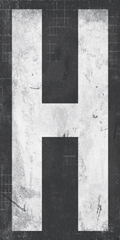 Industrial Alphabet - H Canvas Print by Tom Frazier