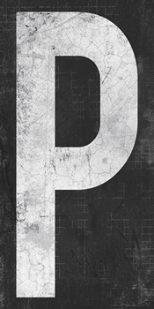 Industrial Alphabet - P Canvas Print by Tom Frazier