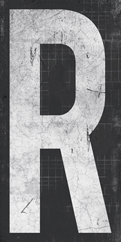 Industrial Alphabet - R Canvas Print by Tom Frazier