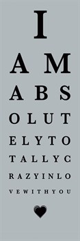 Eye Chart I Print by The Vintage Collection