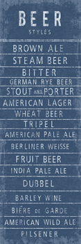 Beer Styles Print by The Vintage Collection