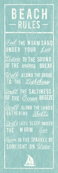 Beach Rules Print by The Vintage Collection