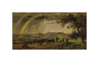 A Passing Shower over Mountain Adam and Eve Fine Art Print by Jasper Francis Cropsey