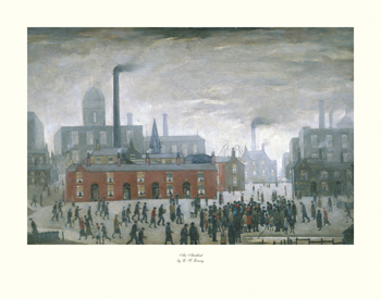 An Accident Print by L.S. Lowry