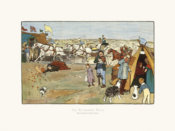 The Bluemarket Races - The Arrival on the Course Fine Art Print by Cecil Aldin