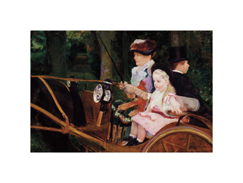 A Woman and a Girl Driving, 1881 Fine Art Print by Mary Stevenson Cassatt