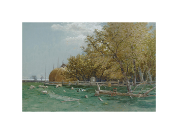 Farm in Southampton, Long Island Fine Art Print by Alfred Thompson Bricher