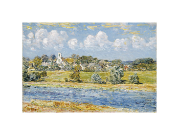Landscape at Newfields, New Hampshire, 1909 Fine Art Print by Frederick Childe Hassam