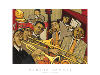 Cacophony in Jazz Print by Marsha Hammel