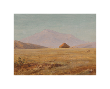 Ecuador, Mountain Plateau with Hut Fine Art Print by Frederic Edwin Church