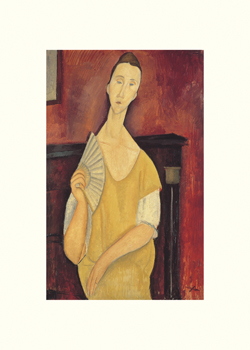 Woman with a Fan Print by Amedeo Modigliani