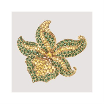 Bejeweled Flower Fine Art Print by Continental School