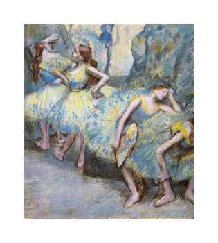 Ballet Dancers in the Wings, c.1890-1900 Fine Art Print by Edgar Degas
