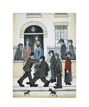 A Fight, c1935 Print by L.S. Lowry