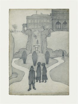 The Steps, Peel Park, Salford, 1930 Fine Art Print by L.S. Lowry
