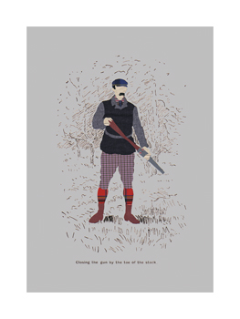 Closing The Gun By The Toe Of The Stock Fine Art Print by Fergus Dowling