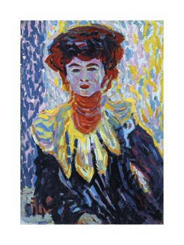 Doris with Ruff Collar, 1906 Fine Art Print by Ernst Ludwig Kirchner
