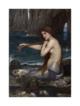 A Mermaid, 1900 Fine Art Print by John William Waterhouse