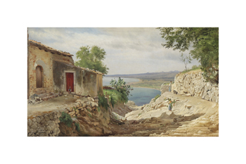 Coastal Landscape from Taormina on Sicily Fine Art Print by Carl Frederic Aagaard