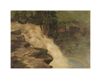 A Waterfall in Colombia Fine Art Print by Frederic Edwin Church