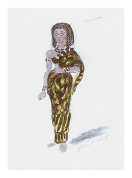Designs for Cleopatra IV Fine Art Print by Oliver Messel
