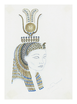 Designs for Cleopatra XIV Fine Art Print by Oliver Messel
