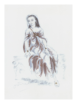 Designs for Cleopatra XV Fine Art Print by Oliver Messel