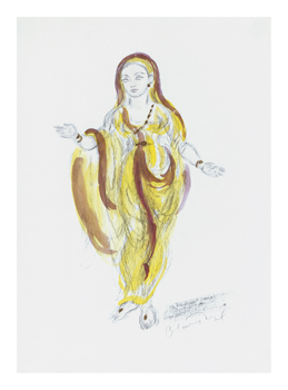 Designs for Cleopatra XVIII Fine Art Print by Oliver Messel