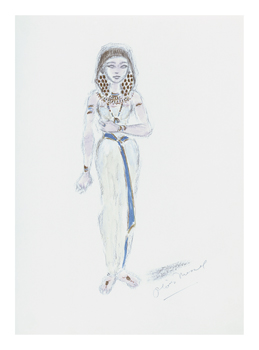 Designs for Cleopatra XX Fine Art Print by Oliver Messel