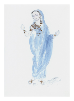 Designs for Cleopatra XXIII Fine Art Print by Oliver Messel