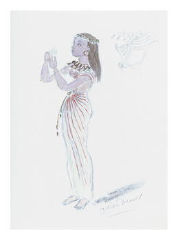 Designs for Cleopatra XXIV Fine Art Print by Oliver Messel