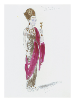 Designs for Cleopatra XXV Fine Art Print by Oliver Messel