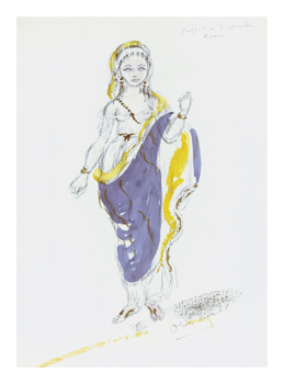 Designs for Cleopatra XXXVI Fine Art Print by Oliver Messel