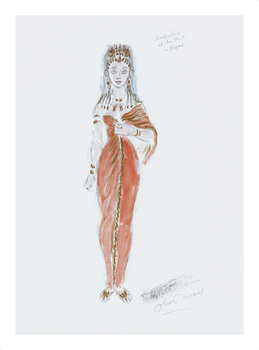 Designs for Cleopatra XXXIX Fine Art Print by Oliver Messel